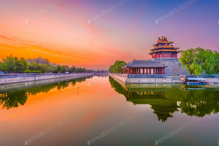 Beijing, China Forbidden City Moat