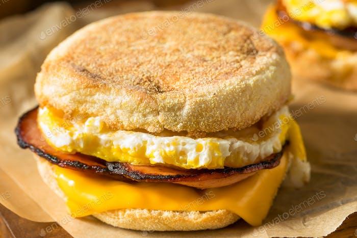 Homemade Egg English Muffin Sandwich