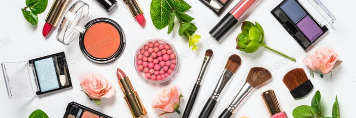 Make-up professionelle Kosmetik auf weiß