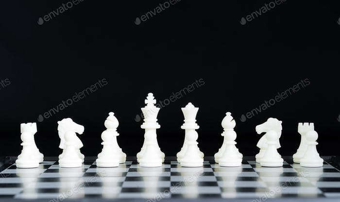 Chess pieces on chessboard-8