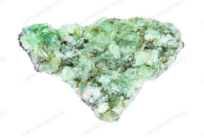 Druse von Anapaitkristallen auf Gestein isoliert
