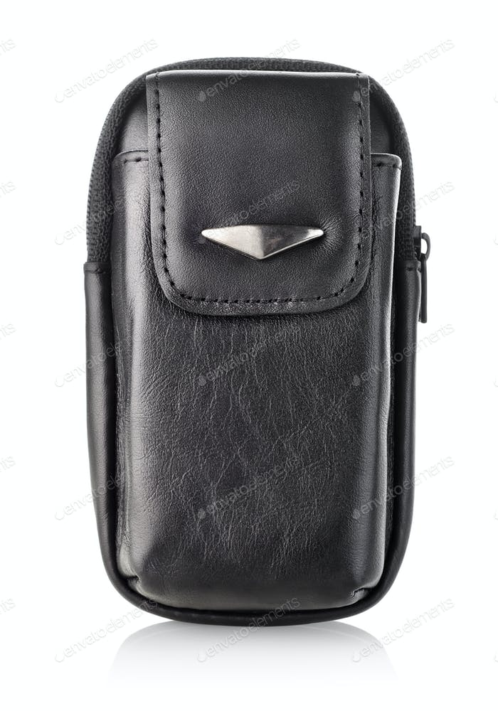Black bag for mobile phone