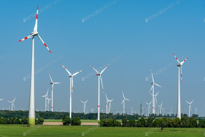Wind power generators in Germany