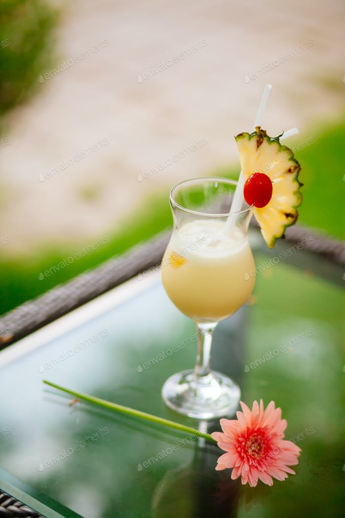 pineapple exotic cocktail