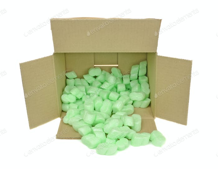 Foam Packaging Chips in a Box