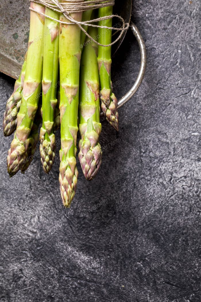 Bunch of Fresh Green Asparagus. Healthy Nutrition Concept. Food for Vegetarians.