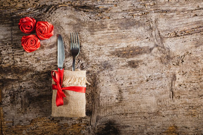 Valentine's Day at Restaurant Background