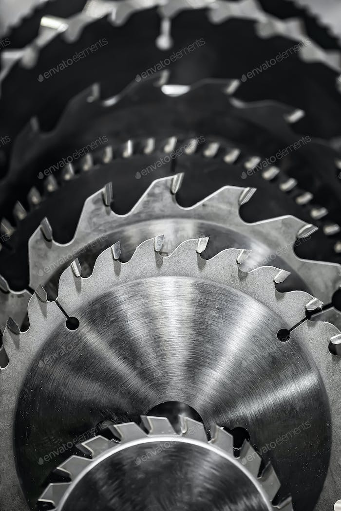 Circular Saw blades close-up