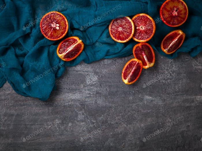 Blood Orange.Food or Healthy diet concept.