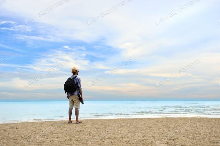 Man traveler