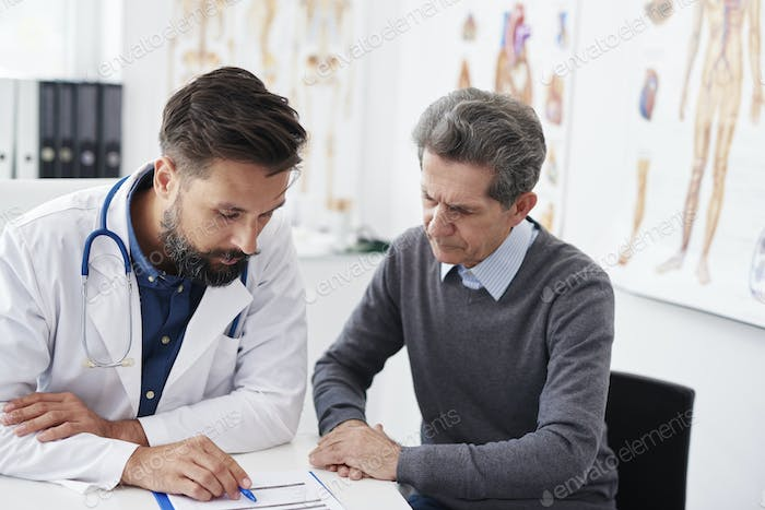 Analyzing the medical results in doctor office