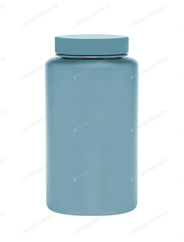 medical container on white background