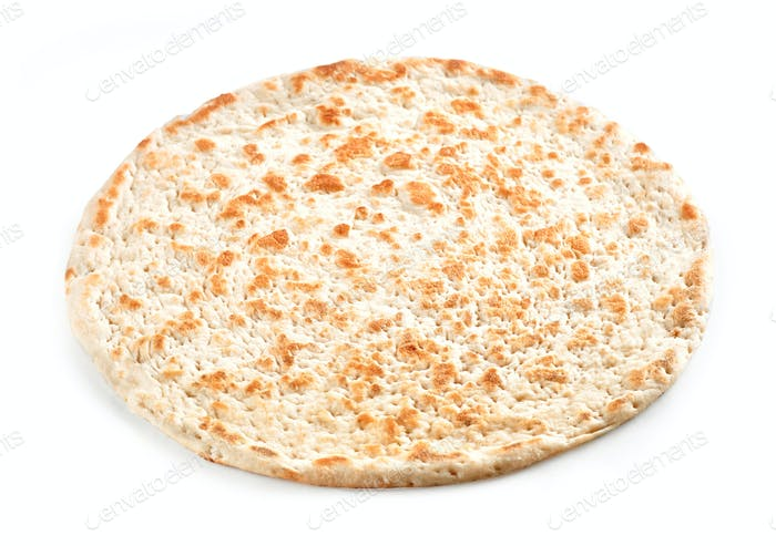Flat Bread on white background