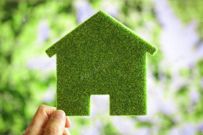 Green eco house environmental background