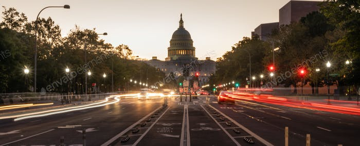 Early Morning Traffic Pennsylvania Avenue District of Columbia