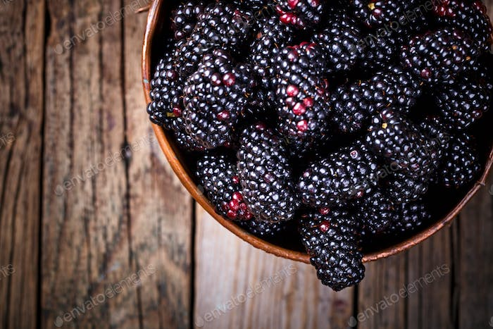 Blackberry Fresh.Food or Healthy diet concept.