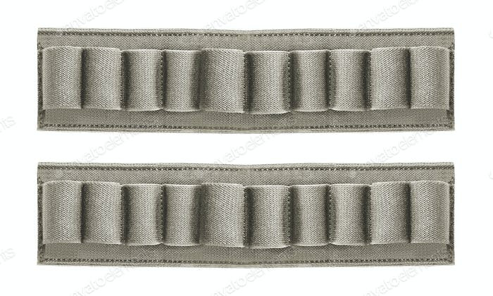 hunting belt with ammo isolated
