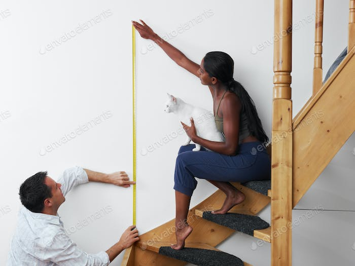 Man And Woman Doing Diy Work At Home