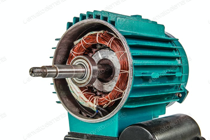 Electrical motor, isolated on white background