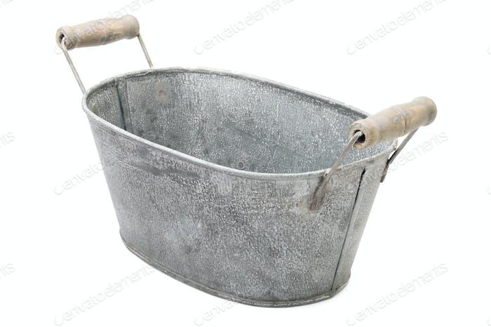 Zinc-coated washbowl