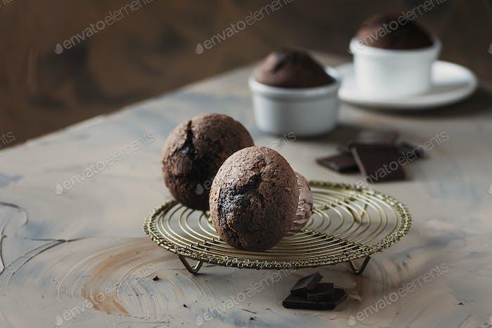 Süße Muffins mit Schokolade