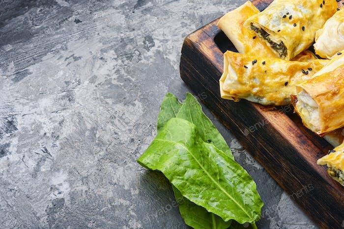 Turkish spinach pie