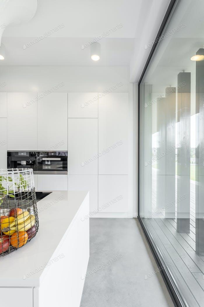Interior of minimalistic kitchen