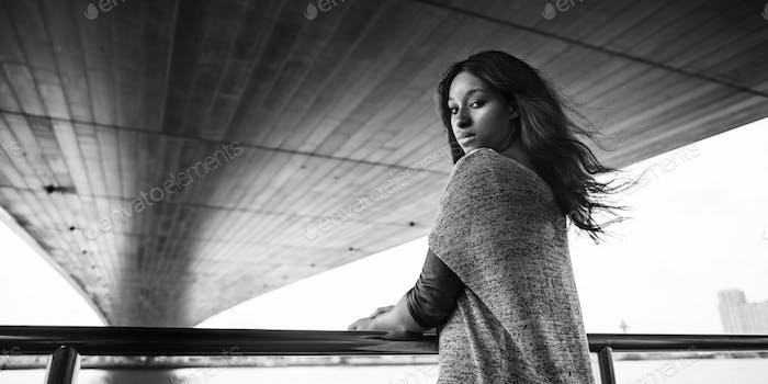 African American Attraktive Vertrauen weibliches Mädchen Konzept