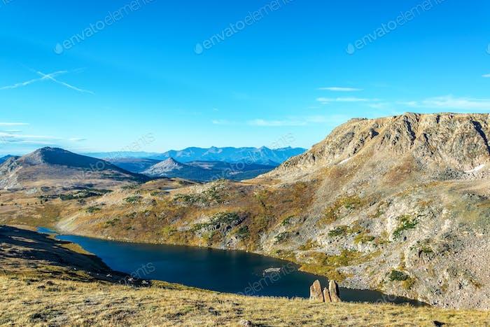 Alpine Lake in Beartooth Mountains