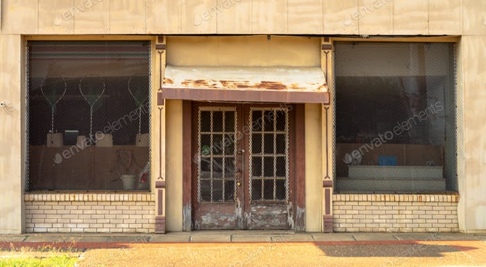 Unidentifizierte Store Front Building Deep South USA