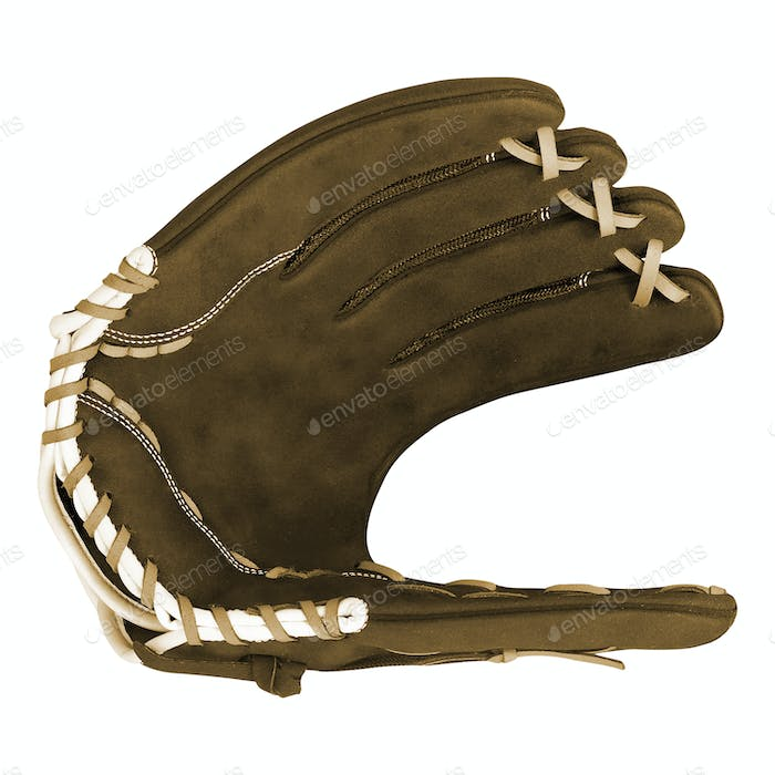 Baseball glove isolated