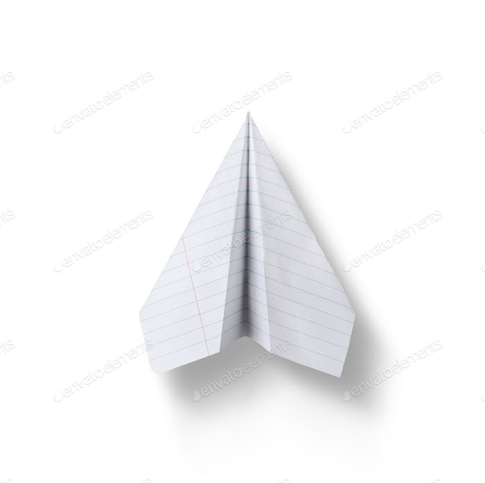 Paper plane isolated on white background