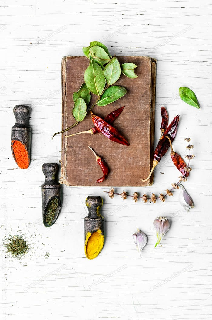 Set of spices to the meat
