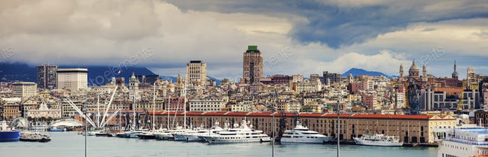Genoa - panoramic view of the city