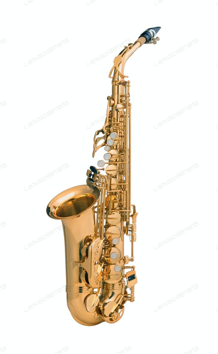 Tenor sax golden saxophone