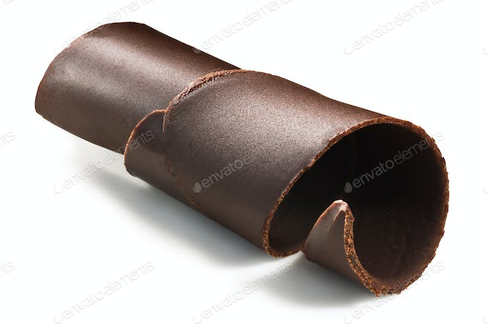 Chocolate shaving curl roll, paths