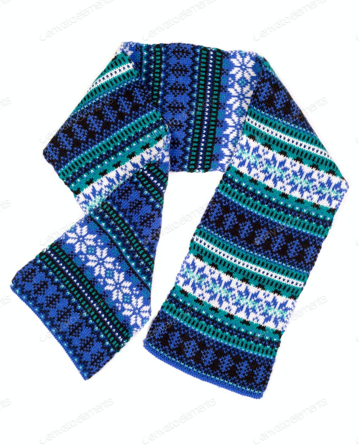 warm scarf with Scandinavian design