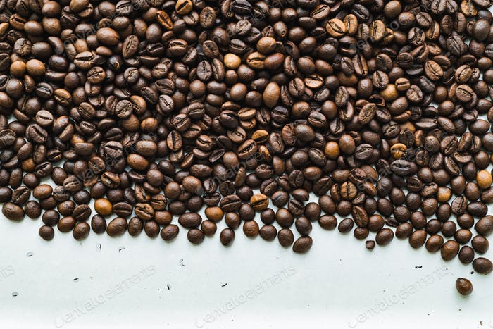 Surface with coffee beans