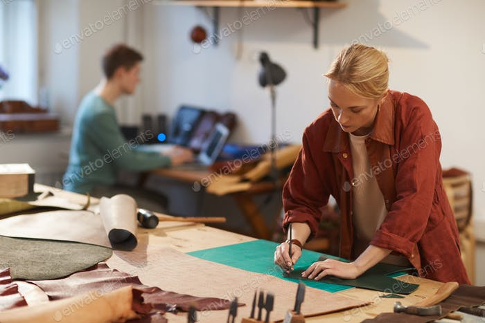 Ordinary Workday In Craft Workshop