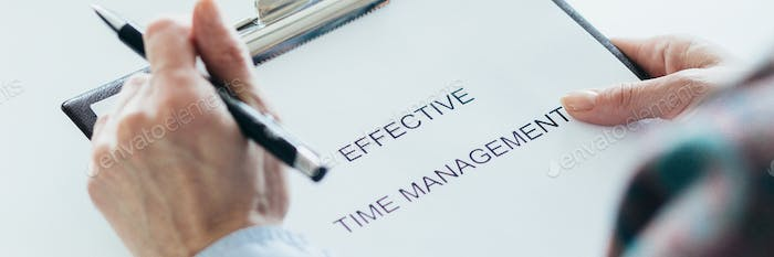 People trying to figure out how to manage time effectively
