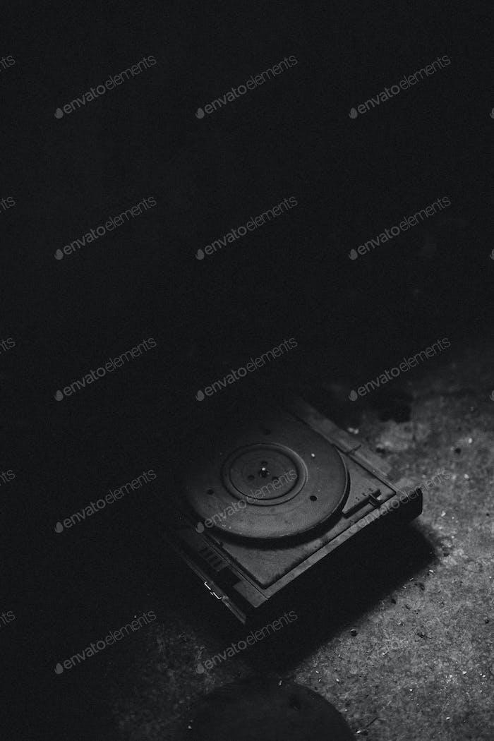 Antique gramophone player