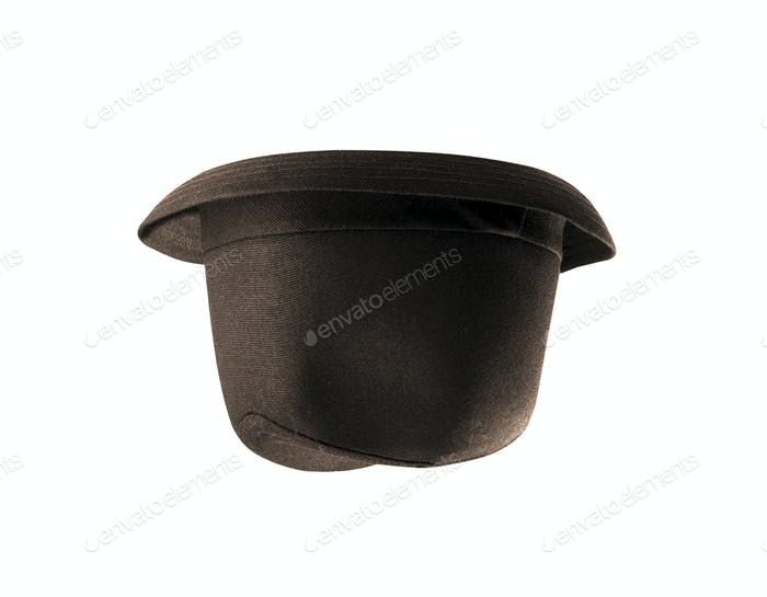 male winter brown hat isolated