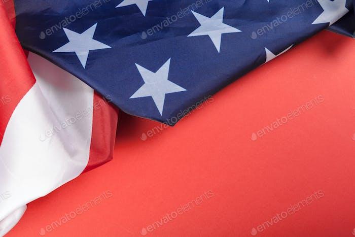 Bandera americana vintage con espacio para texto
