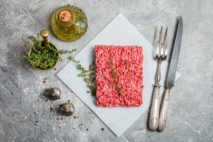 Minced meat with seasoning