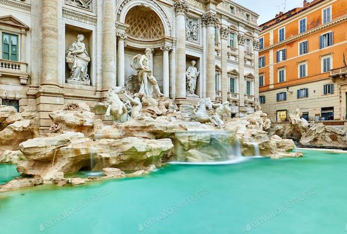 Brunnen di Trevi in Rom
