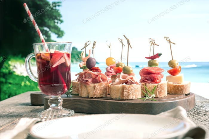 Set of Spanish tapas