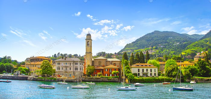 Cernobbio town, Como Lake district landscape. Italy, Europe.
