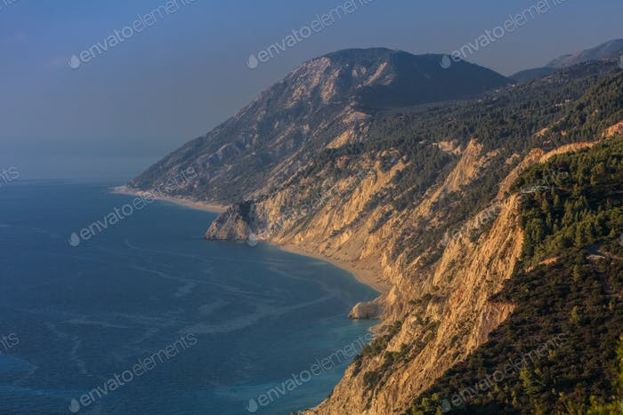 view of Egremni beach, Greece
