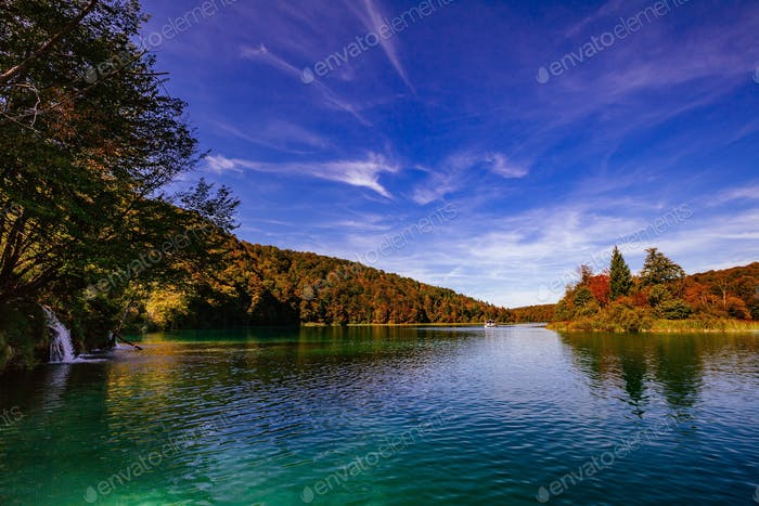 Plitvice Lakes National Park in autumn, Croatia