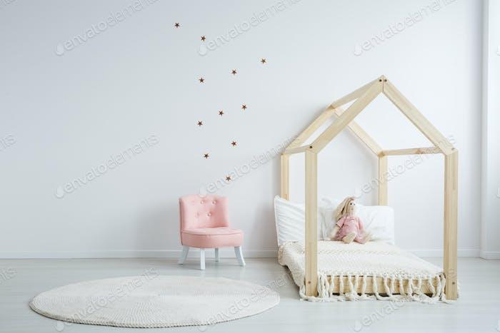 Modern children's furniture in bedroom